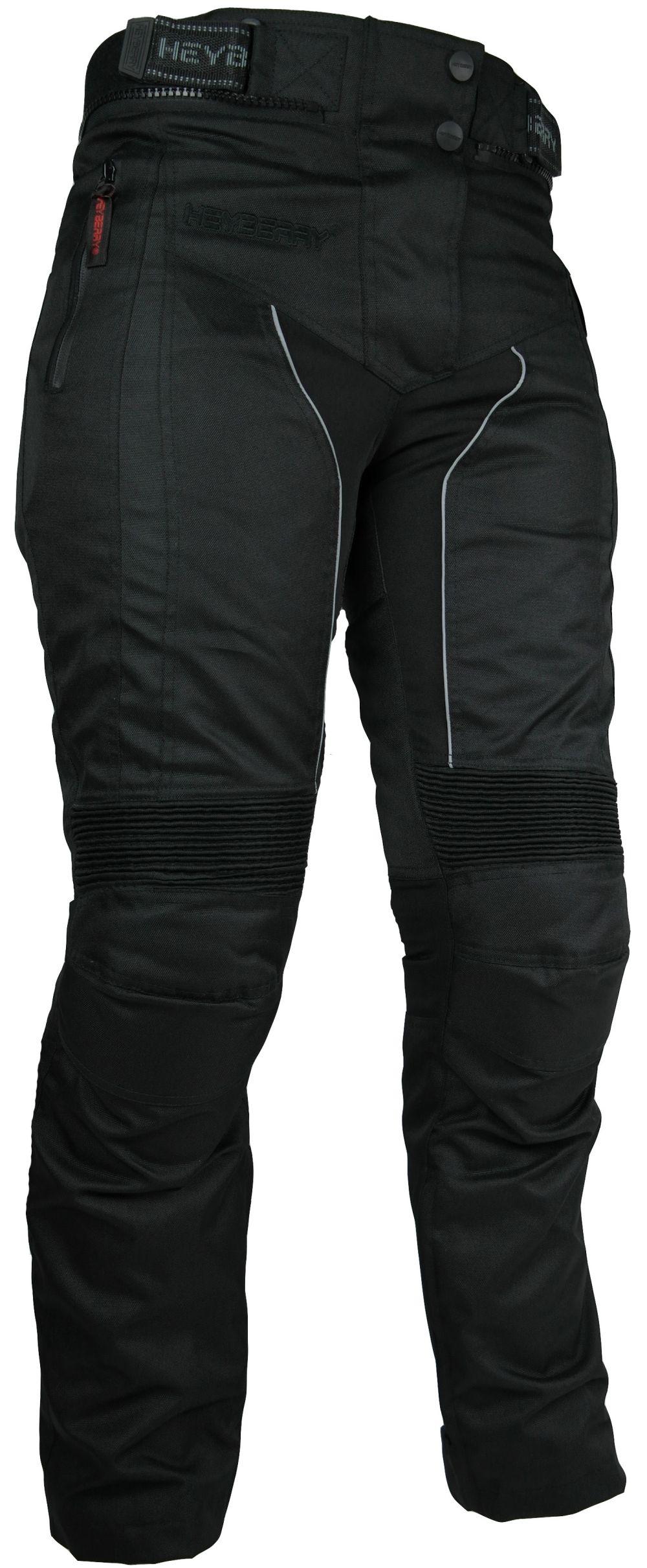 Heyberry Damen Motorrad Hose Motorradhose Textil Schwarz Gr. S - XXL