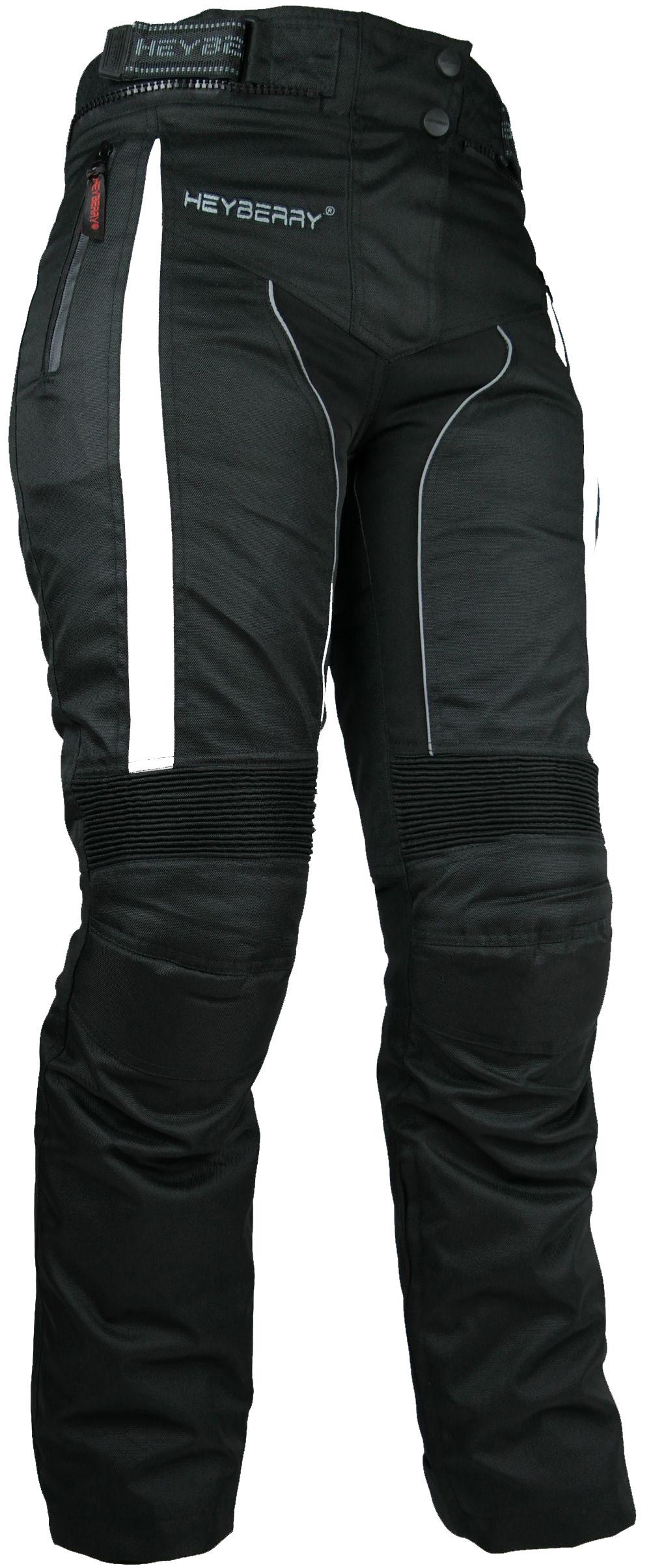 Heyberry Damen Motorradhose sportlich Textil Schwarz Weiß Gr. S - XXL