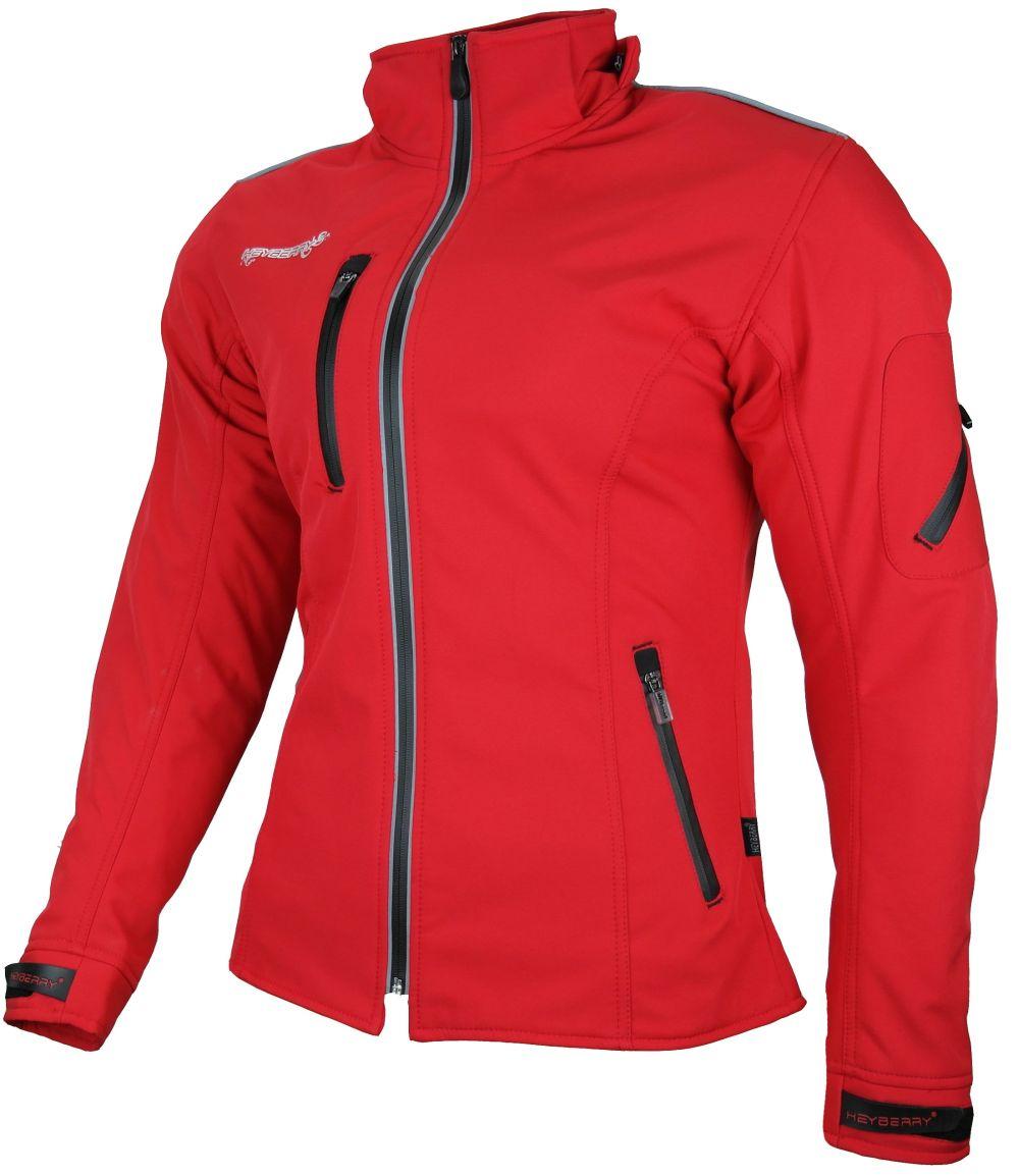 Heyberry Damen Soft Shell Jacke Motorradjacke Textil Rot Gr. S M L XL