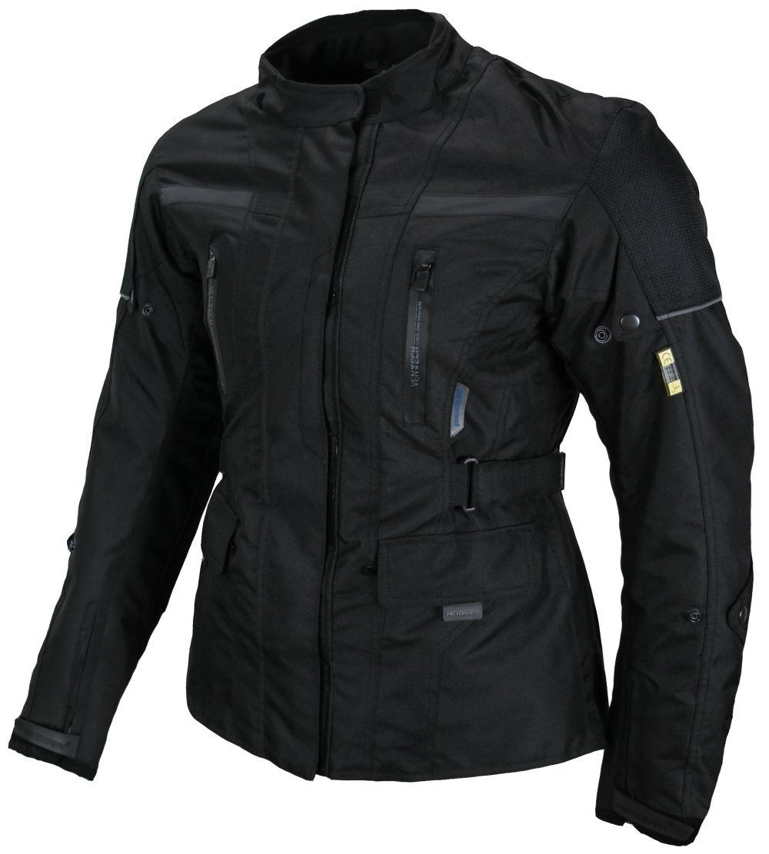 Heyberry Textil Damen Motorradjacke Lang Schwarz  Gr. S M L XL XXL