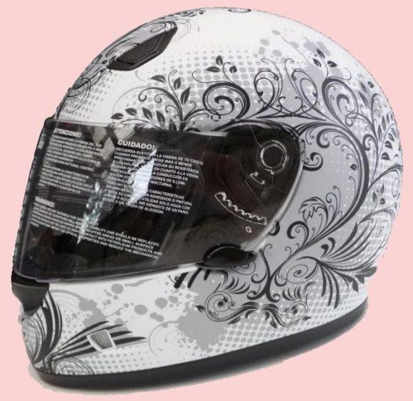 Damen Motorradhelm Matt / Weiss  Imagine Gr. XS - L