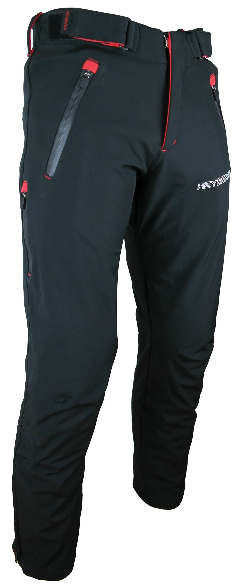 Heyberry Soft Shell Motorradhose Textil Schwarz / Rot Gr. M L XL XXL 3XL