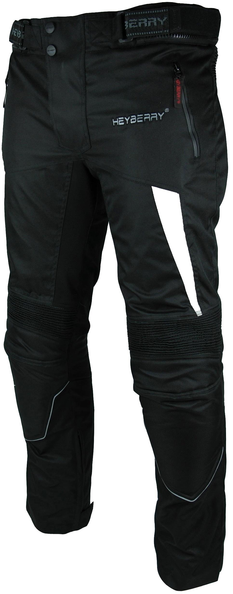 Heyberry Motorradhose Textil Schwarz Weiß Gr. M L XL XXL 3XL