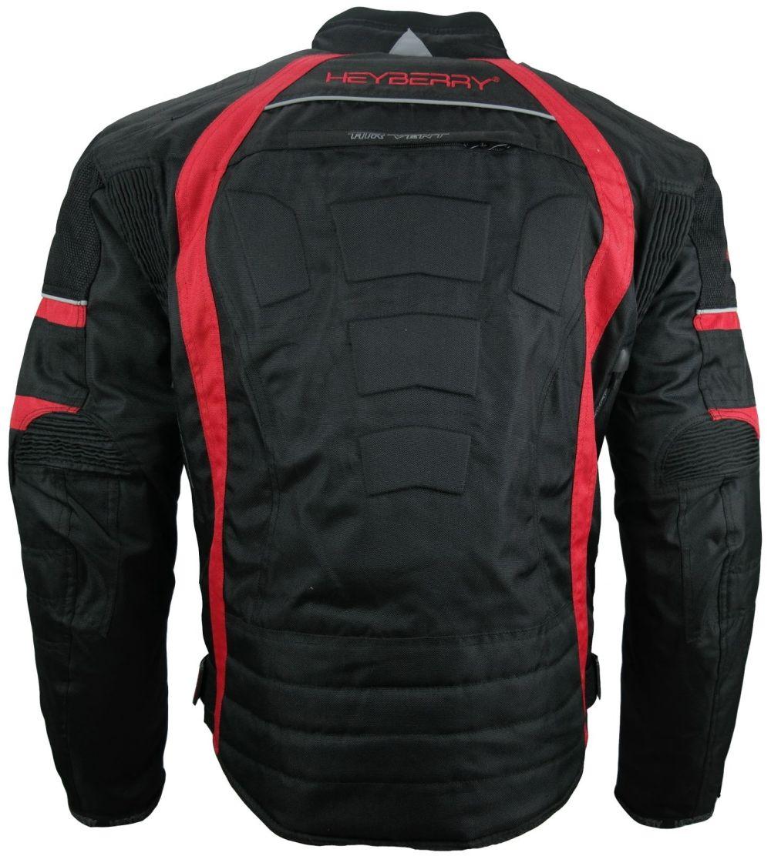 sportliche heyberry textil motorrad jacke motorradjacke. Black Bedroom Furniture Sets. Home Design Ideas