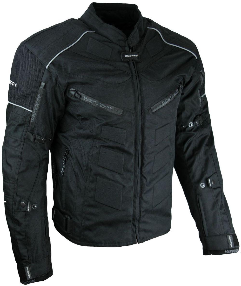 Kurze Textil Motorrad Jacke Motorradjacke Schwarz Gr. M - 3XL