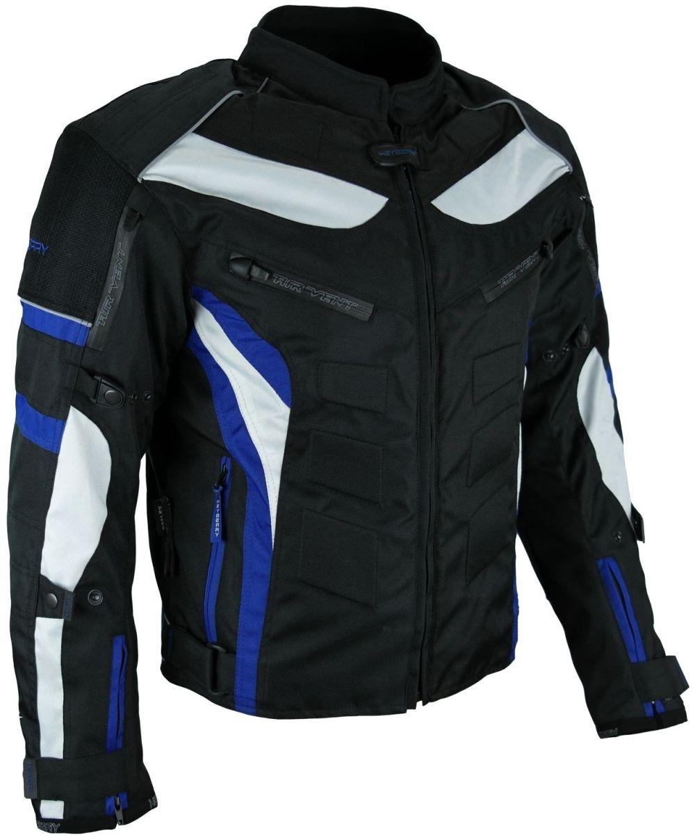 streetfun textil motorrad jacke motorradjacke schwarz blau. Black Bedroom Furniture Sets. Home Design Ideas