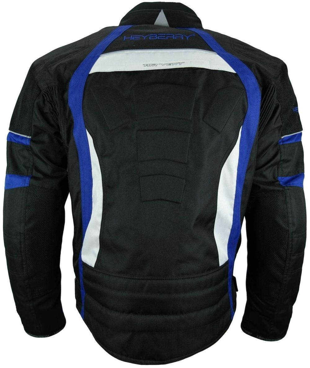 Heyberry Textil Motorrad Jacke Motorradjacke Schwarz Blau M bis 3XL
