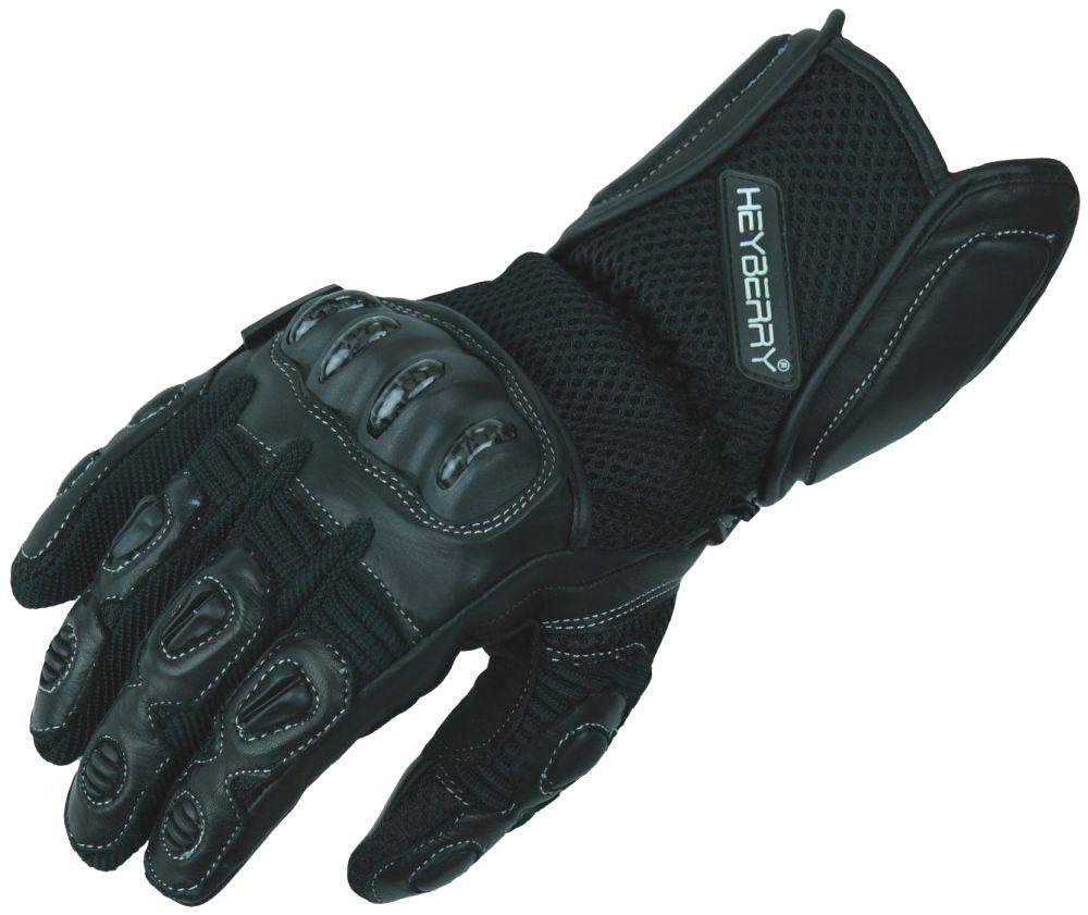 Heyberry Sommer Motorradhandschuhe Motorrad Handschuhe schwarz Gr. M - XXL