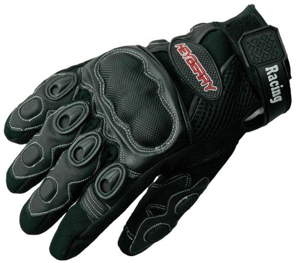 Heyberry Sommer Motorradhandschuhe Textil Leder Motorrad Handschuhe Gr. M - XXL