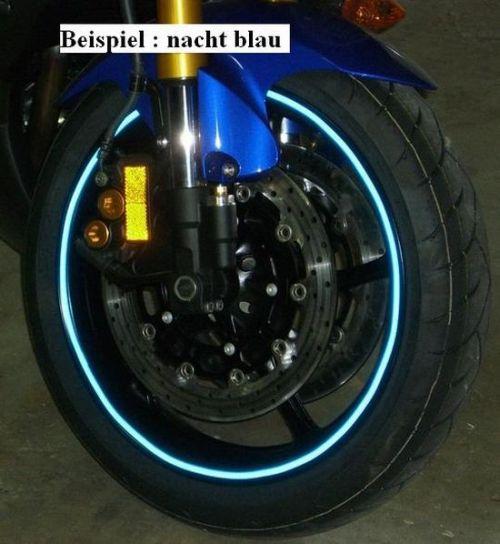 Felgenrandaufkleber  Farbe : Blau