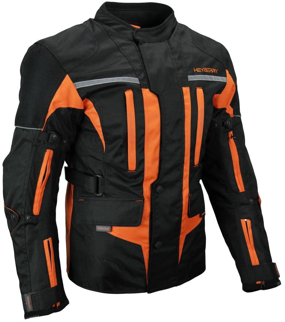 Touren Motorrad Jacke Motorradjacke Textil Heyberry schwarz orange M - 3XL