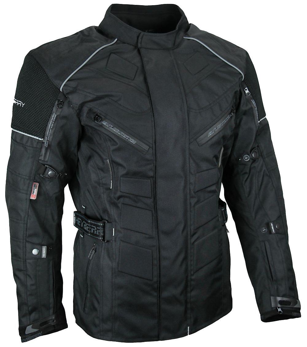 Herren Touren Motorradjacke Textil Heyberry schwarz Gr. M - 3XL