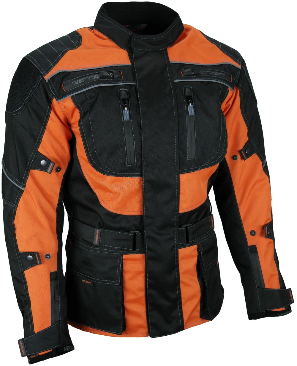 heyberry touren motorrad jacke motorradjacke textil schwarz orange m 3xl. Black Bedroom Furniture Sets. Home Design Ideas