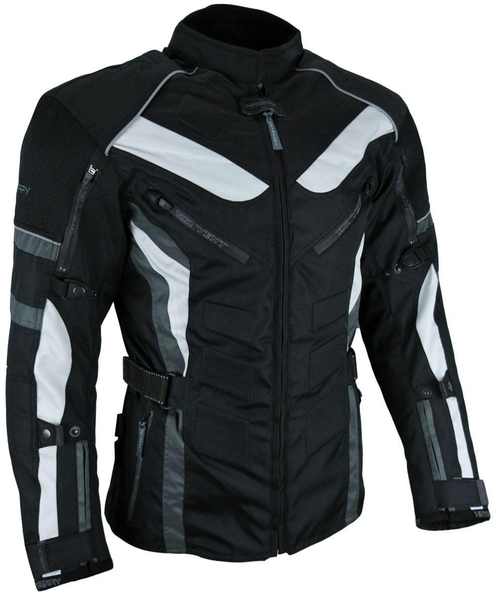 Heyberry Touren Motorrad Jacke Motorradjacke Textil schwarz grau Gr. M - 3XL