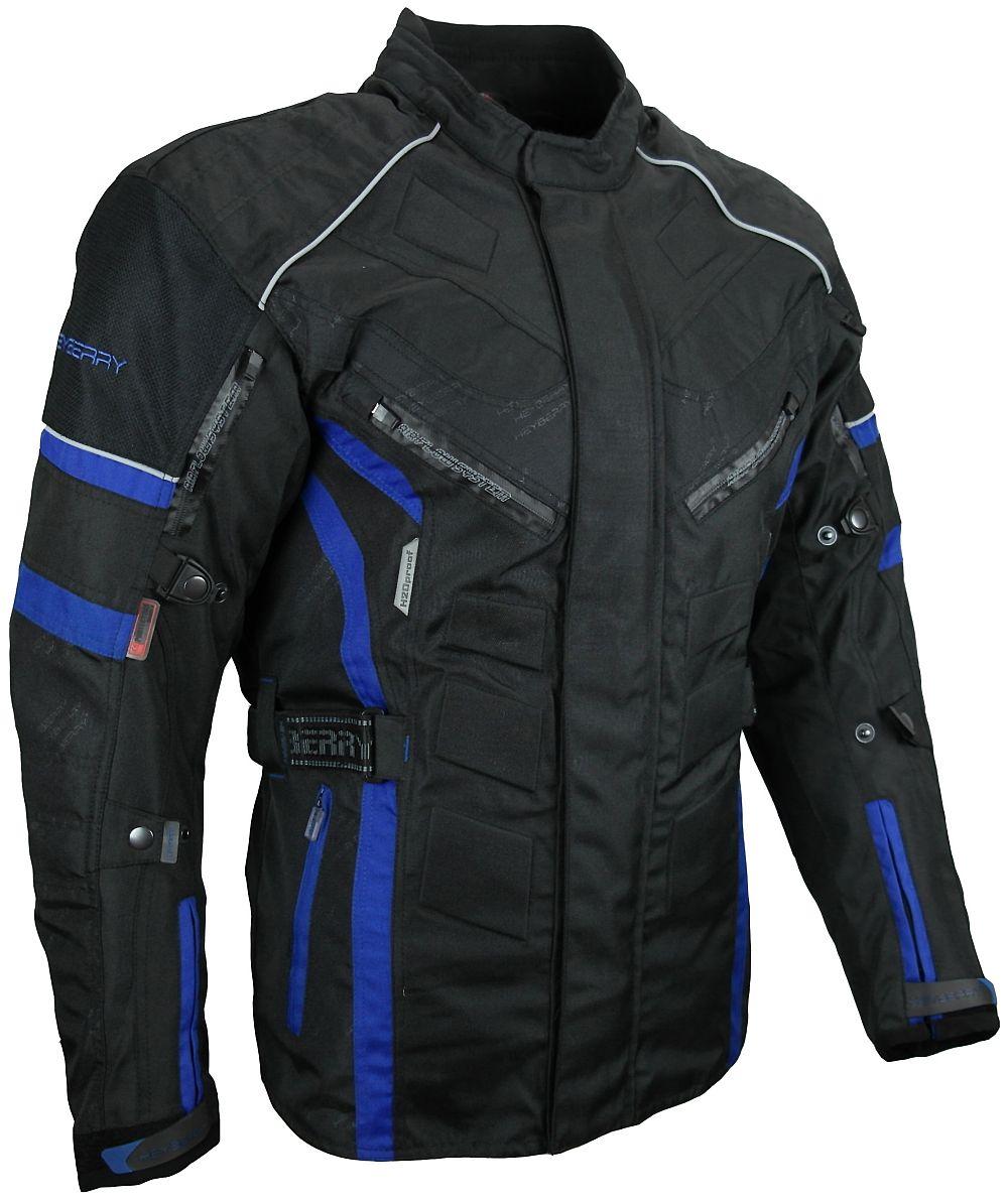 Herren Touren Motorradjacke Textil Heyberry schwarz blau Gr. M - 3XL
