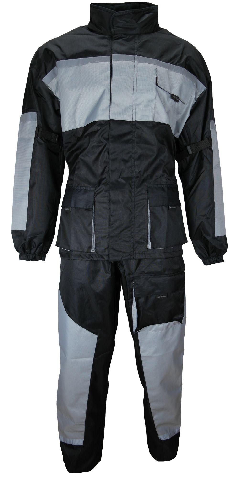 Motorrad Regenkombi Regenhose Regenjacke schwarz / grau Gr. M bis 3XL