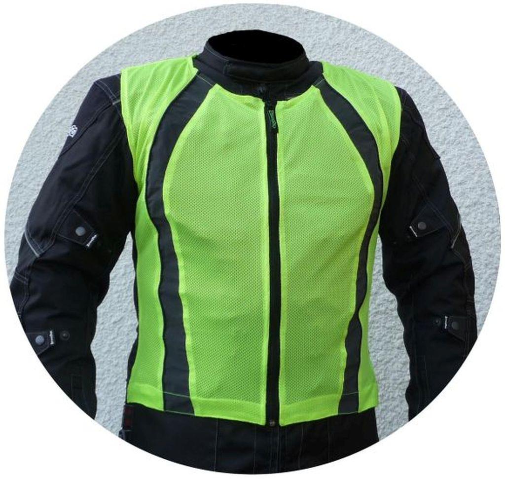 Motorrad Warnweste Sicherheitsweste Reflektorweste neon gelb Gr. S - 3XL