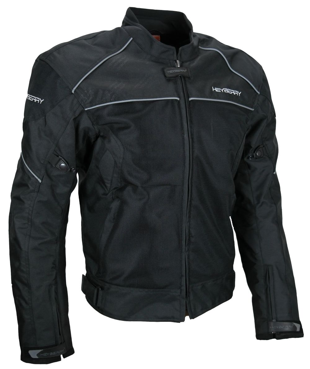 heyberry airmesh sommer motorradjacke schwarz gr m l xl. Black Bedroom Furniture Sets. Home Design Ideas