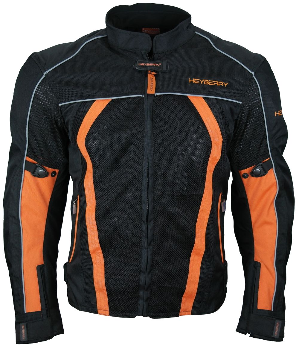 sommer motorradjacke airmesh motorrad jacke schwarz orange. Black Bedroom Furniture Sets. Home Design Ideas