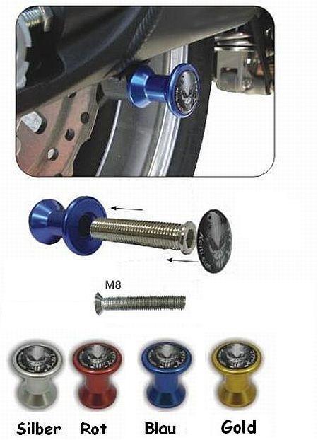 Aufbockaufnahme für Montageständer M8 Farbig eloxiert