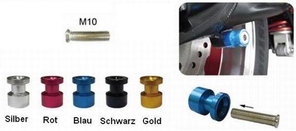 Kleine Aufbockaufnahme für Montageständer M10  eloxiert
