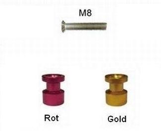 Kleine Aufbockaufnahme für Montageständer M8  eloxiert