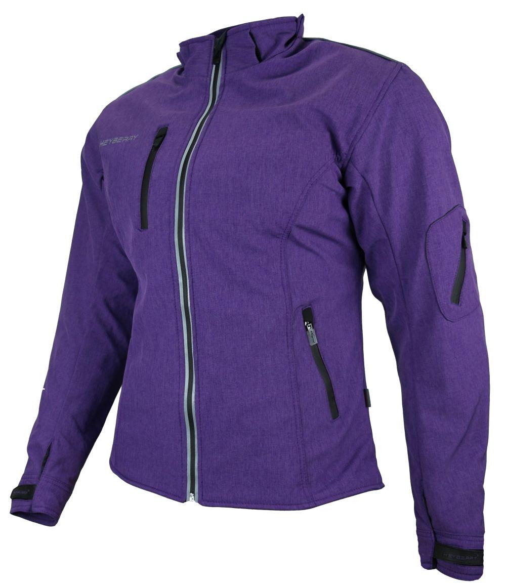 Heyberry Damen Soft Shell Jacke Motorradjacke Textil Lila Purple  S - XXL