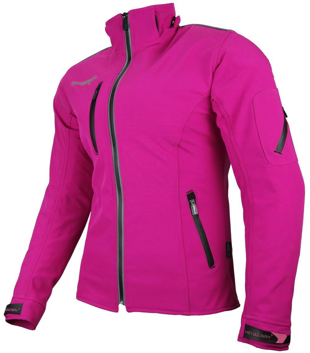 Heyberry Damen Soft Shell Jacke Motorradjacke Textil Pink Gr. S M L XL