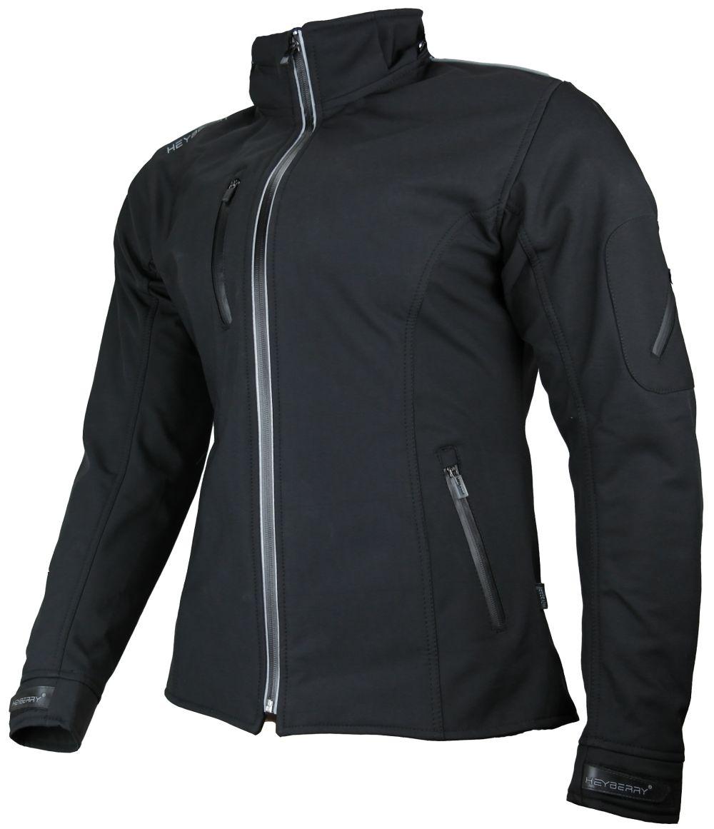 Heyberry Damen Soft Shell Jacke Motorradjacke Textil Schwarz Gr. S M L XL XXL