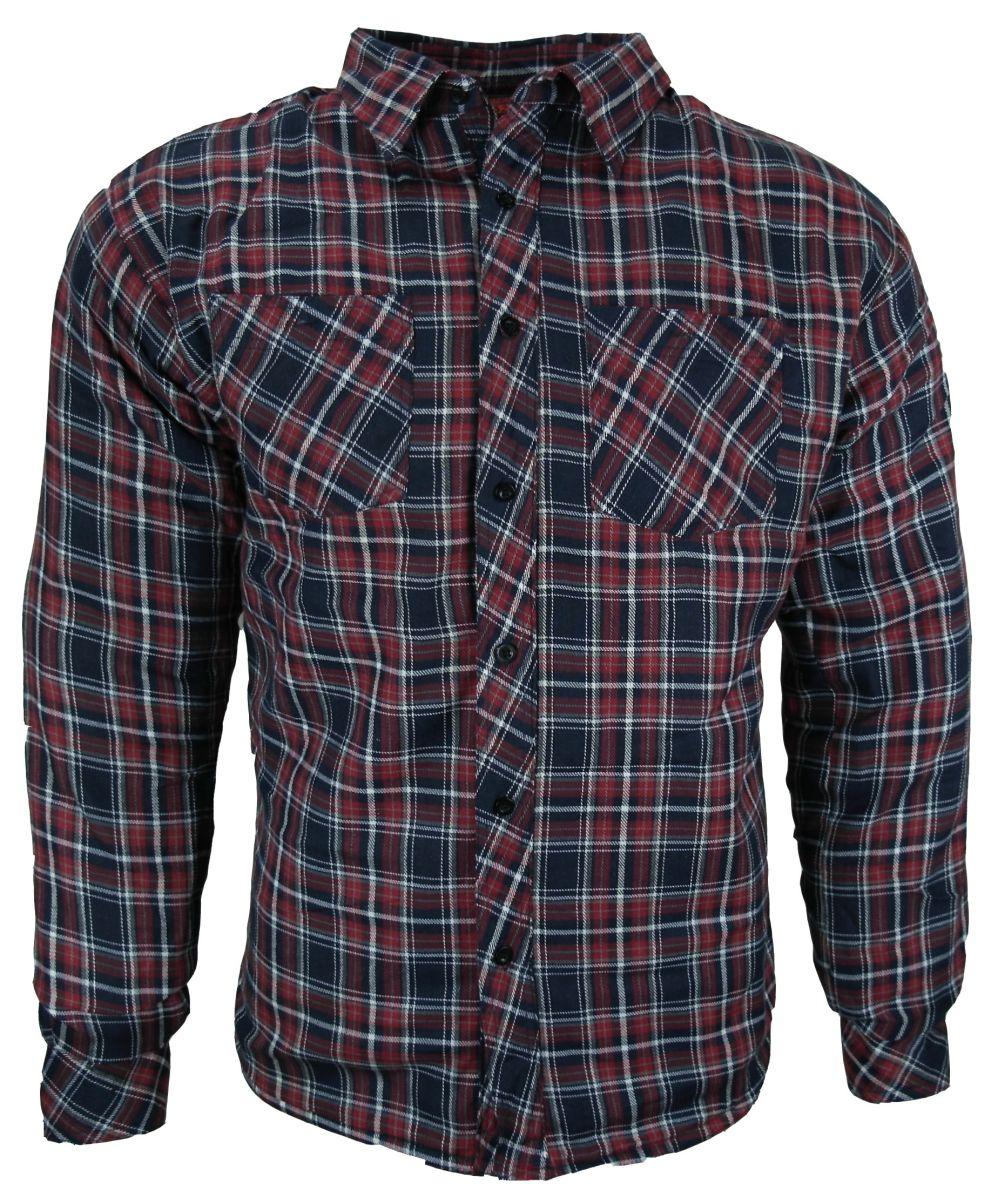 Heyberry Motorrad Biker Holzfäller Hemd Shirt mit Aramid rot blau Gr. M - XXL