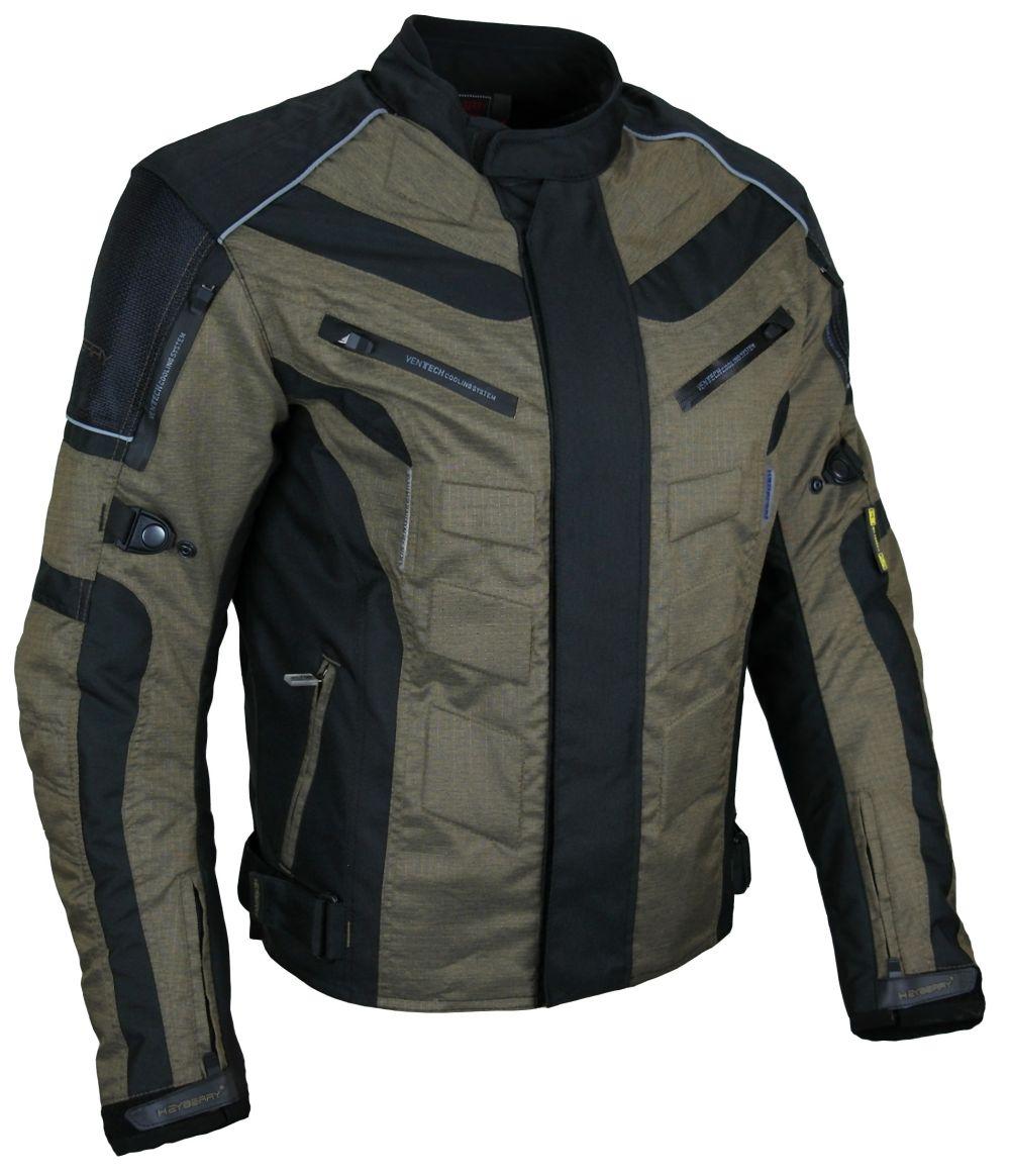 Kurze Textil Motorrad Jacke Motorradjacke Schwarz Braun Gr. M - 3XL