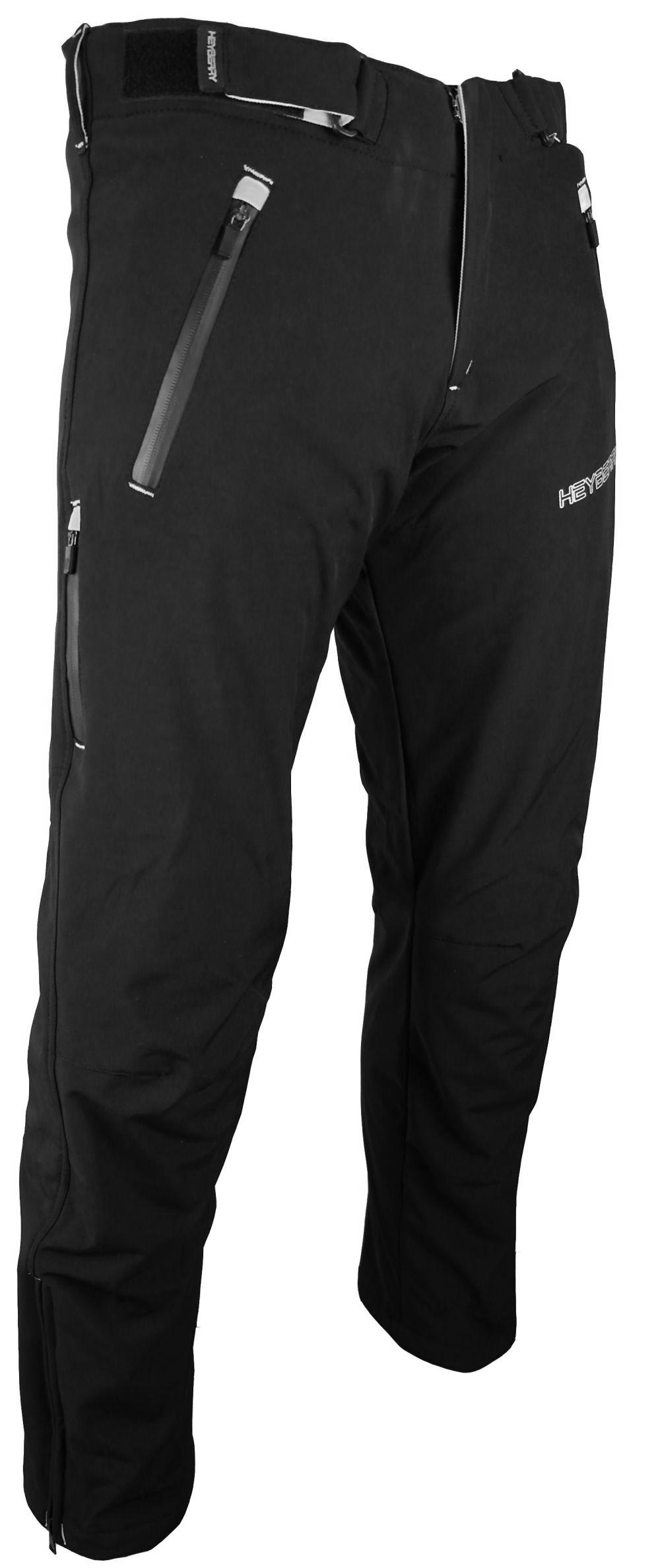 Heyberry Soft Shell Motorradhose Textil Schwarz / Weiß  M L XL XXL 3XL