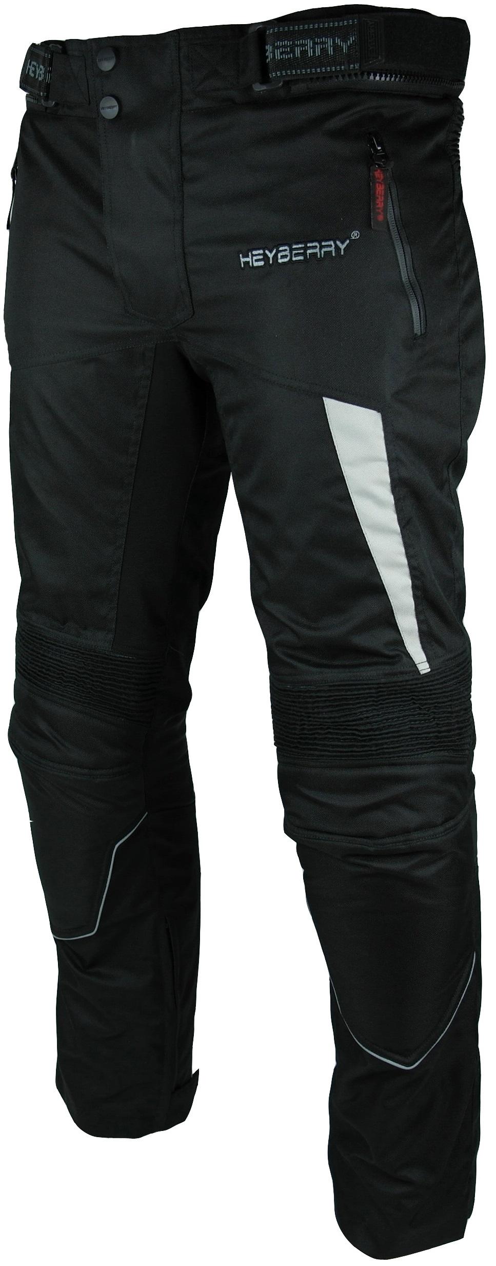 Heyberry Motorradhose Textil Schwarz Grau Gr. M - 3XL