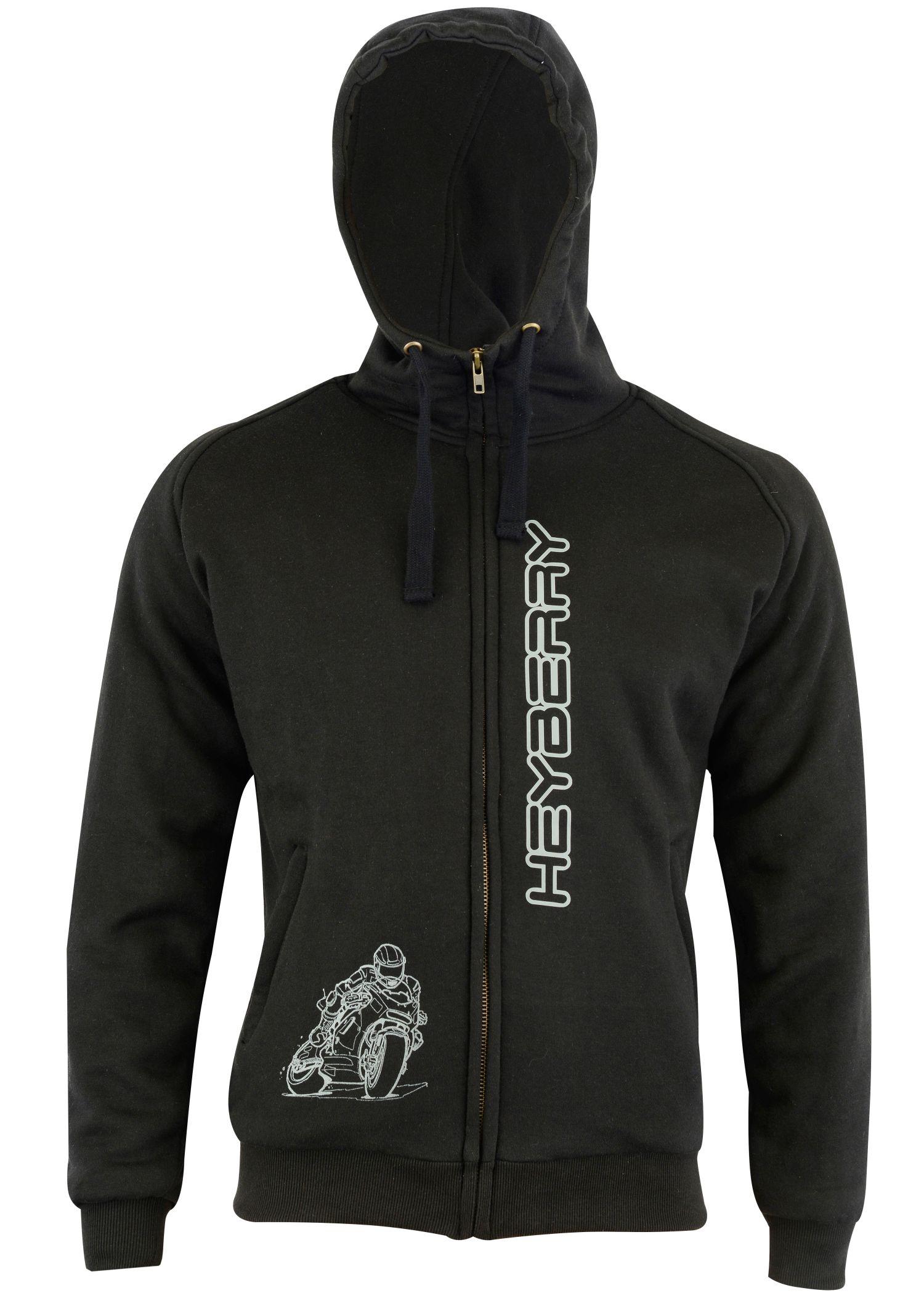 heyberry aramid hoody motorradjacke roller hoodie schwarz. Black Bedroom Furniture Sets. Home Design Ideas