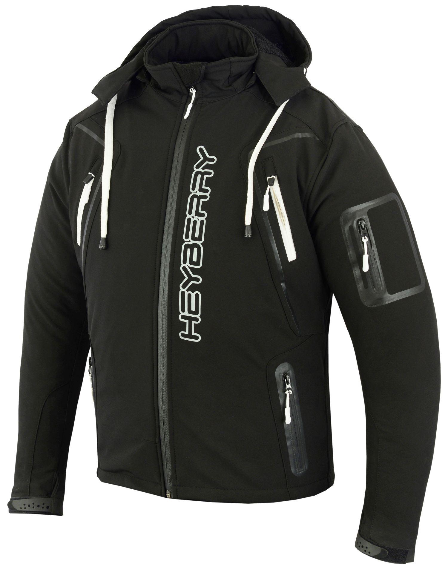 Soft Shell Motorradjacke Heyberry Textil Schwarz/Weiß Gr. M L XL XXL 3XL