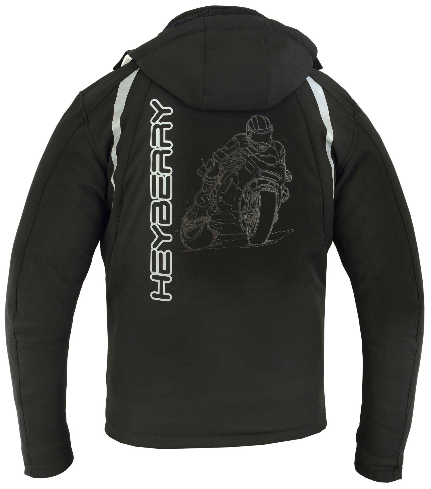 Details zu Heyberry Softshell Motorradjacke Motorrad Softshelljacke Gr. M bis 3XL