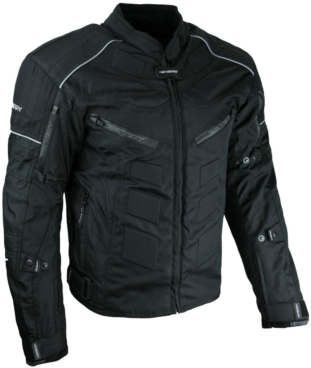Kurze Textil Motorrad Jacke Motorradjacke Schwarz Gr. M - 7XL