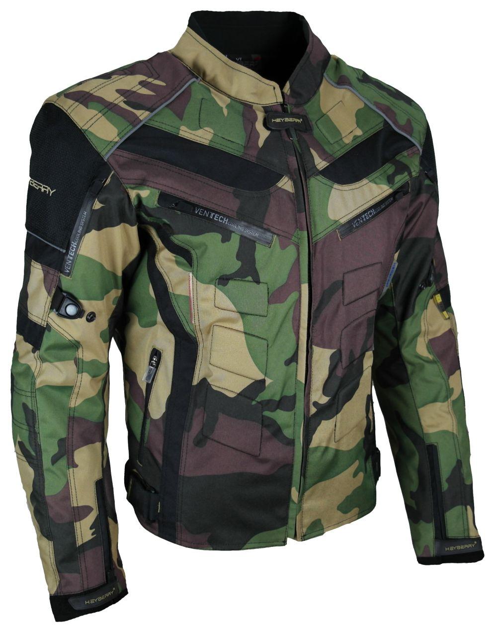 Heyberry Motorrad Roller Jacke Motorradjacke Camouflage Woodland Gr. M bis 7XL