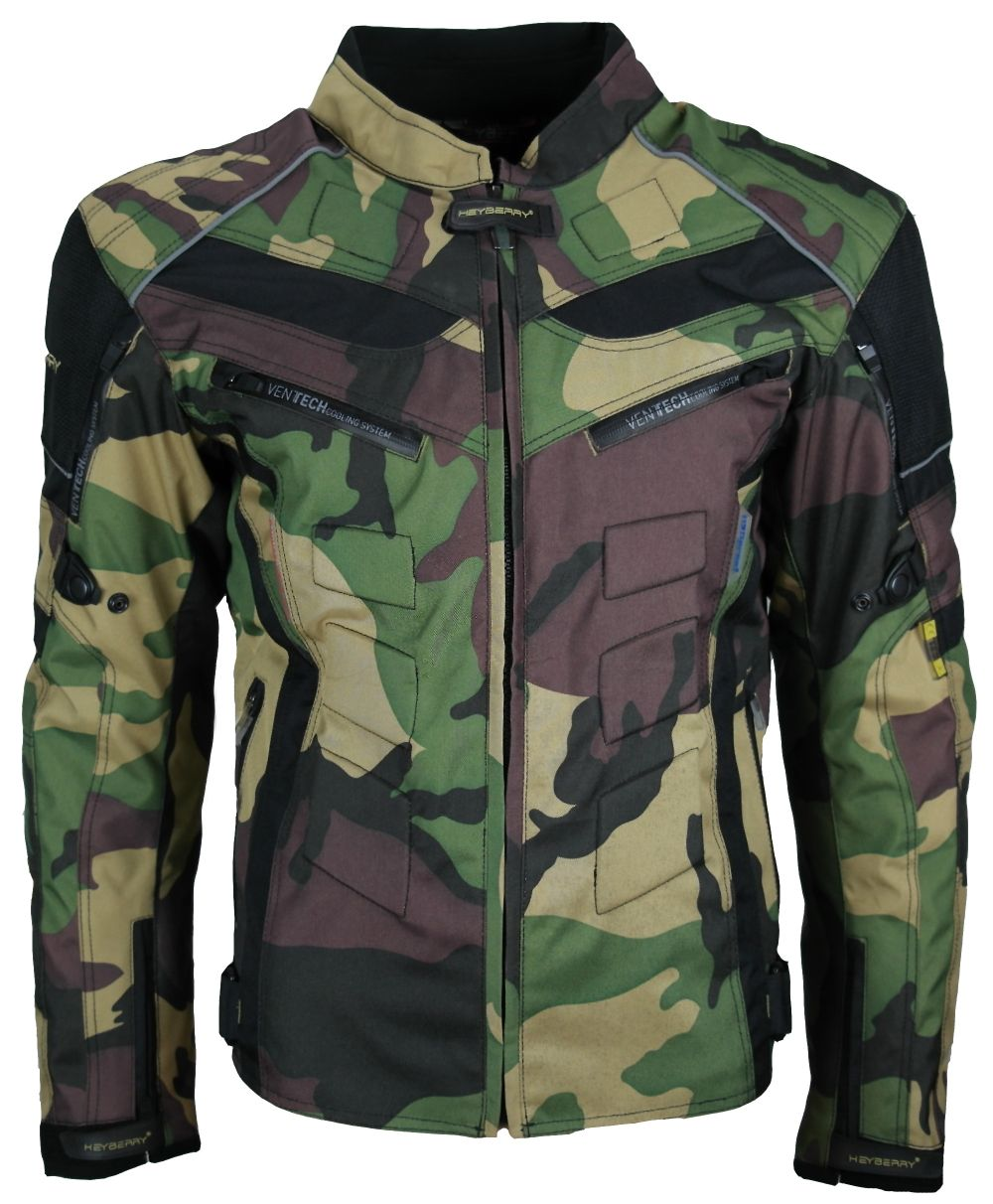 heyberry motorrad roller jacke motorradjacke camouflage. Black Bedroom Furniture Sets. Home Design Ideas