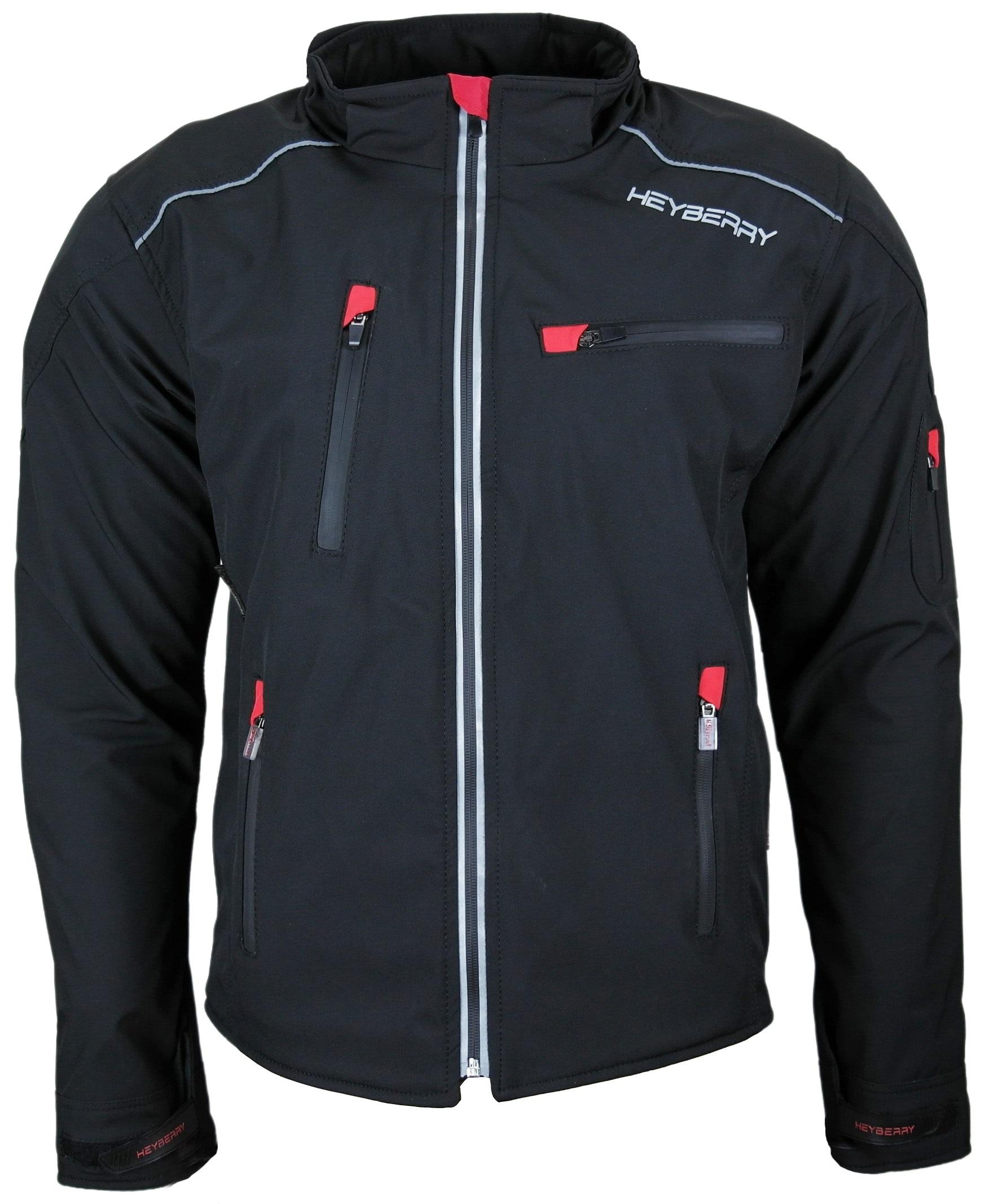 GrM Schwarz Soft Shell Motorradjacke Textil 7xl Heyberry 80OPXwkn