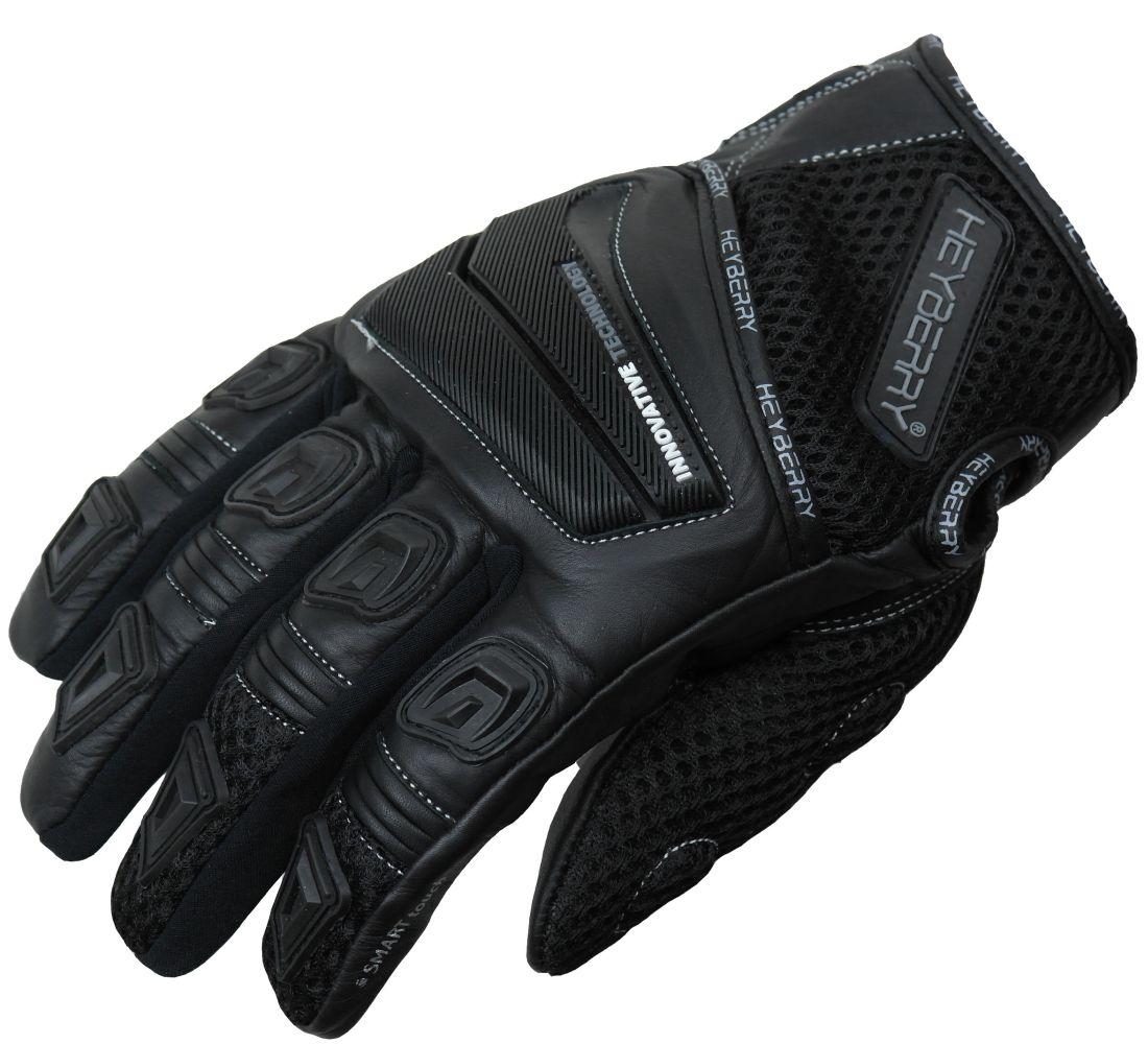 Heyberry Motorrad Handschuhe Motorradhandschuhe Sommer schwarz Gr. M L XL