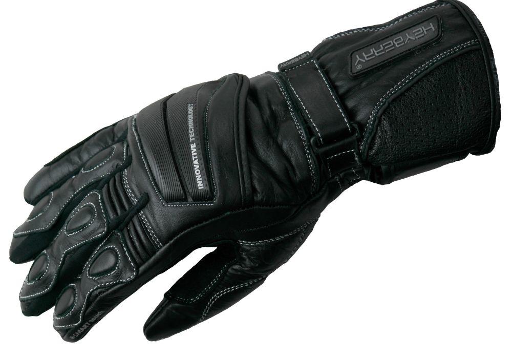 Heyberry Leder Motorrad Handschuhe Motorradhandschuhe schwarz Gr. M L XL