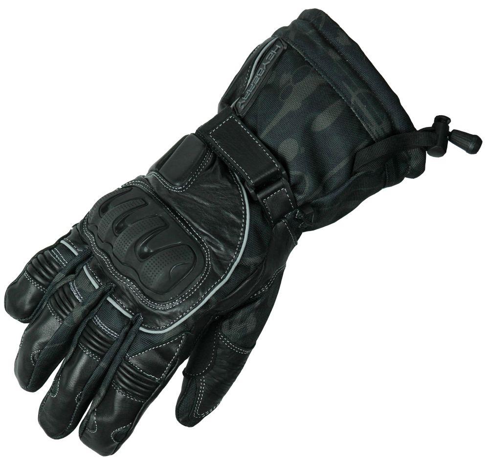 Heyberry Winter Motorradhandschuhe gefüttert grau Gr. M L XL XXL