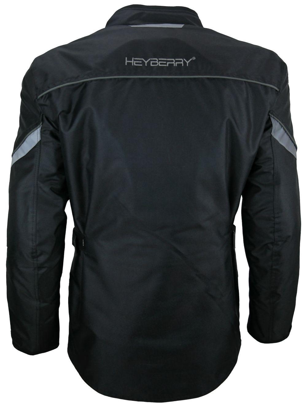 Heyberry Textil Touren Motorradjacke Motorrad Jacke schwarz grau Gr. M-3XL