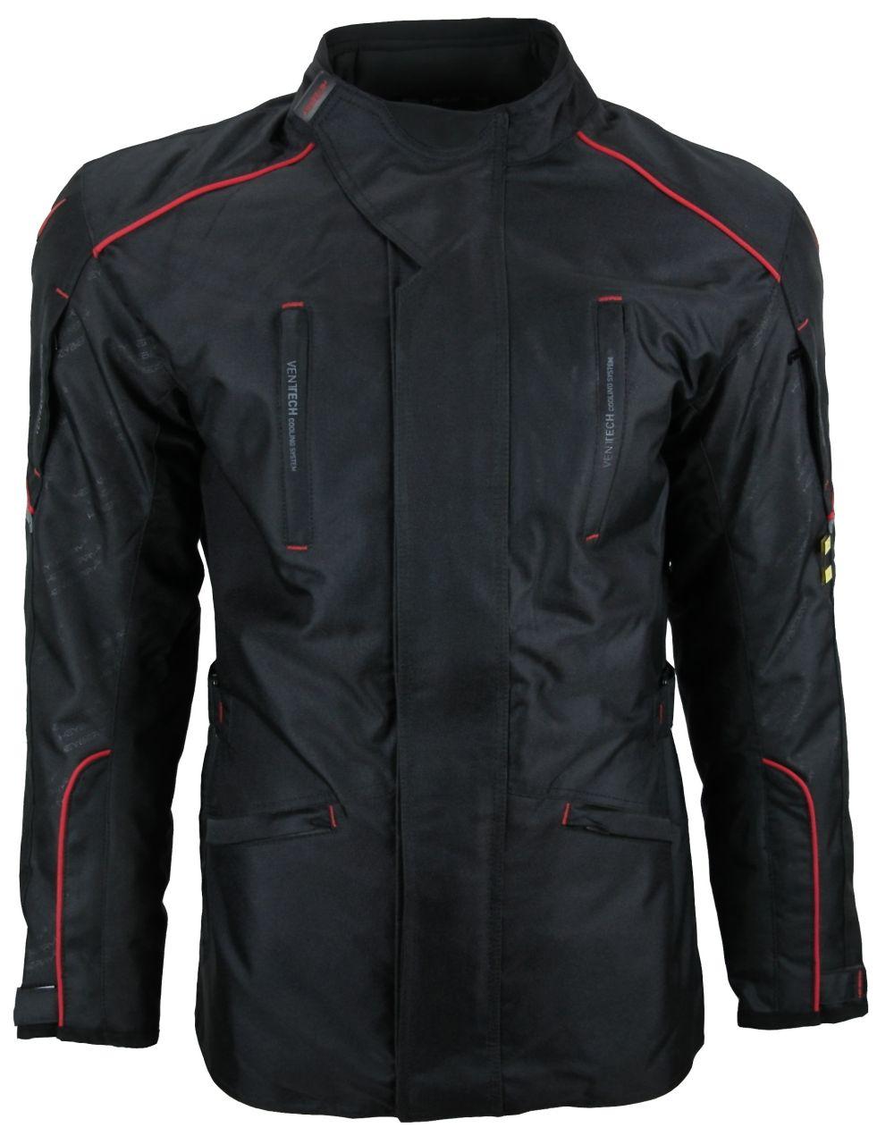 Heyberry Textil Touren Motorradjacke Motorrad Jacke schwarz rot Gr. M-3XL