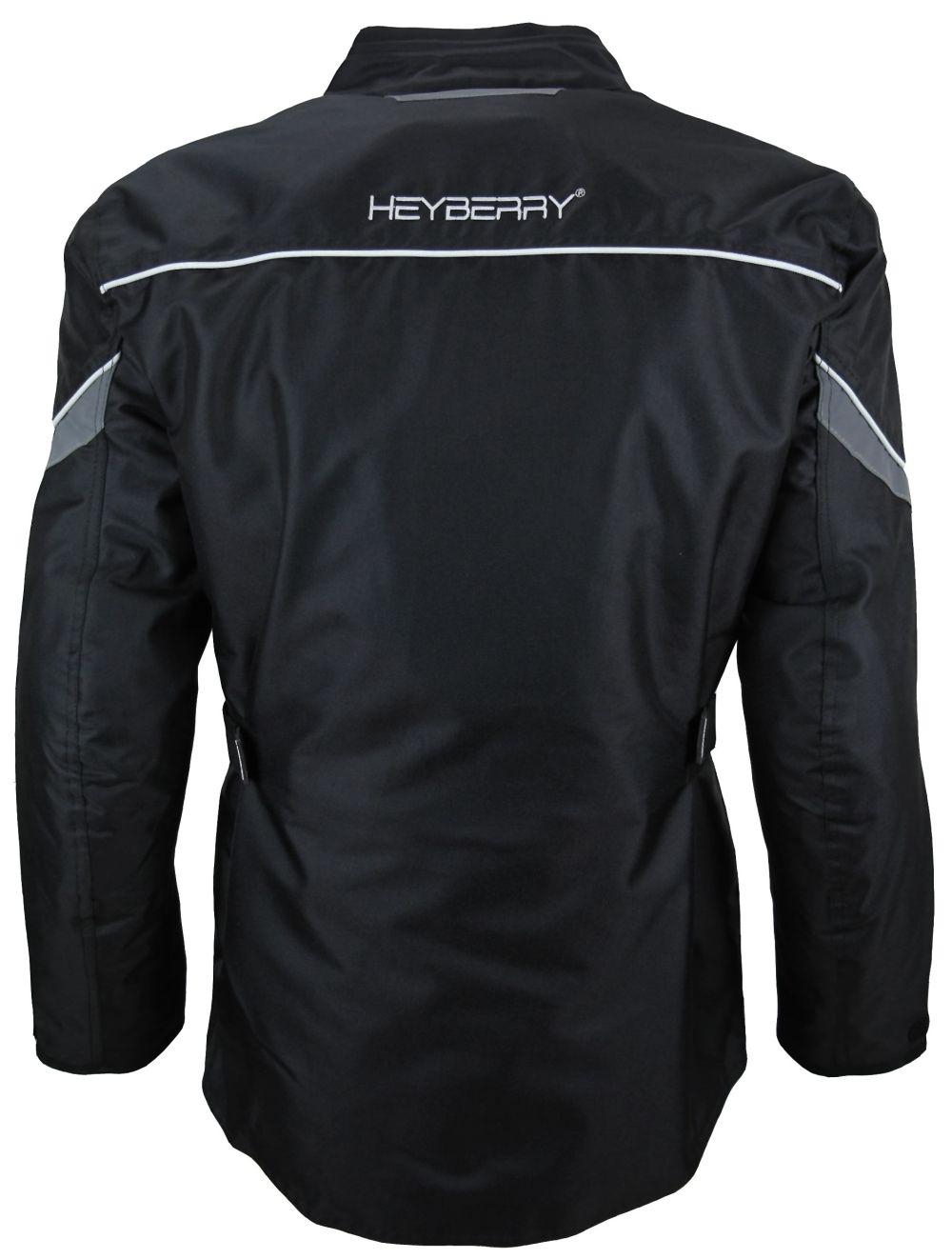 Heyberry Textil Touren Motorradjacke Motorrad Jacke schwarz weiß Gr. M-3XL