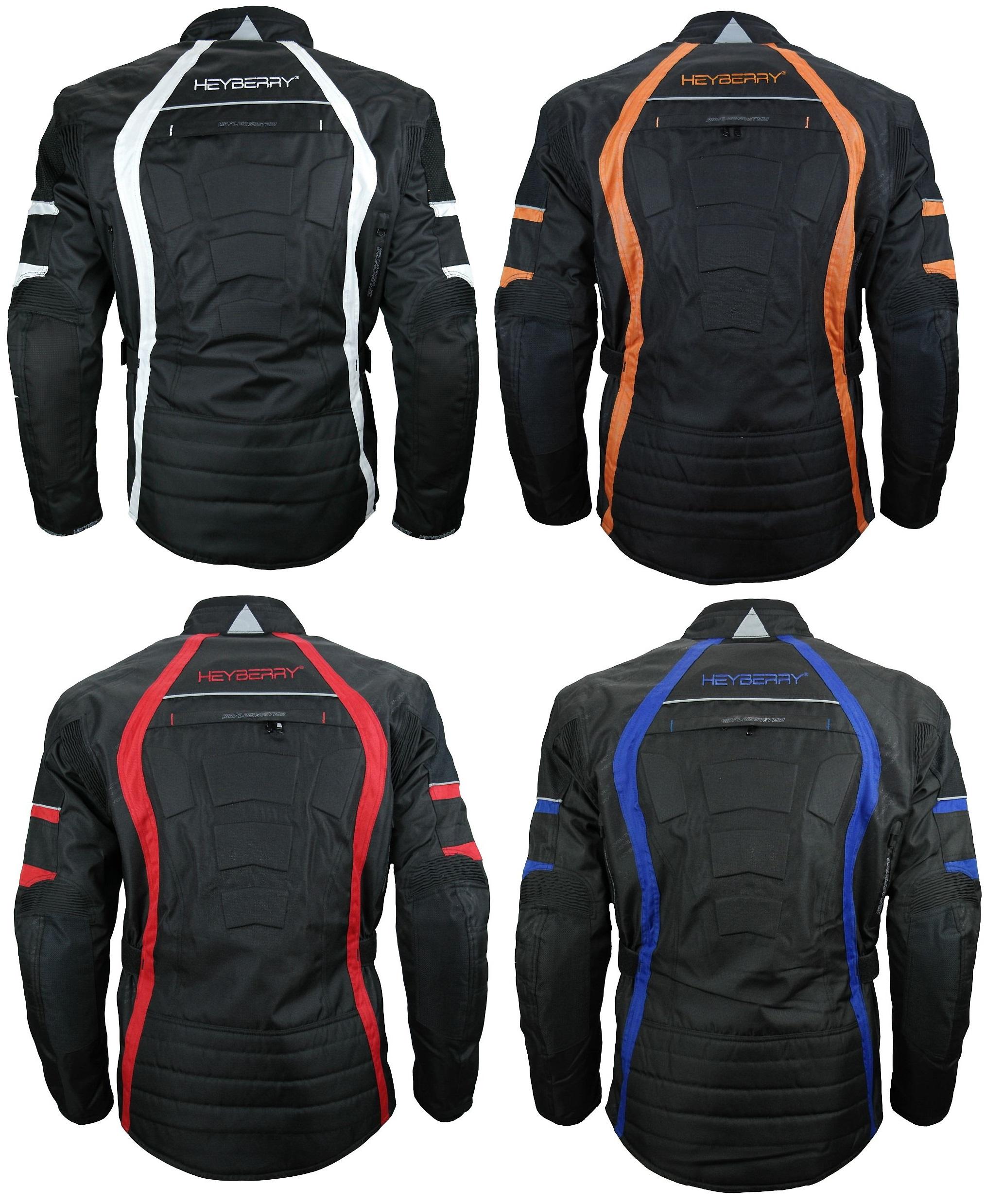 Details zu Heyberry Touren Motorradjacke Roller Motorrad Jacke Textil Gr. M bis 7XL