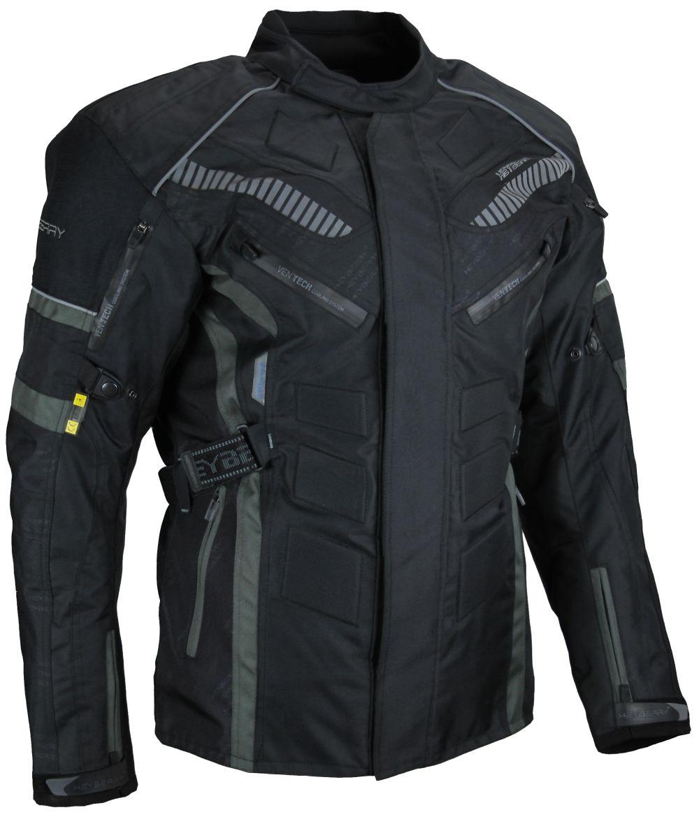 Herren Touren Motorradjacke Textil Heyberry grau Gr. M L XL XXL 3XL