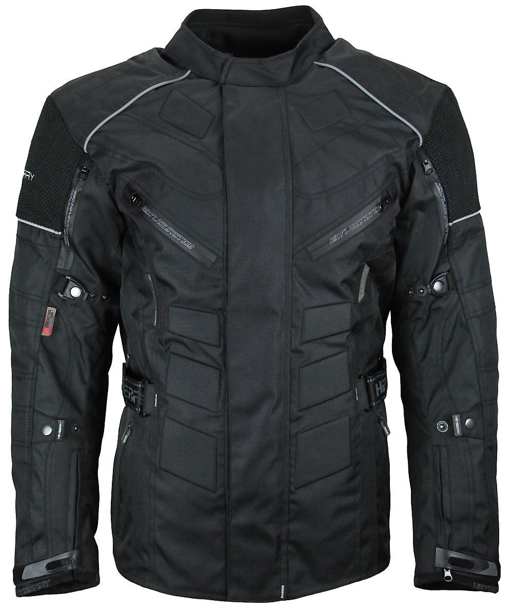 Herren Touren Motorradjacke Textil Heyberry schwarz Gr. M - 7XL