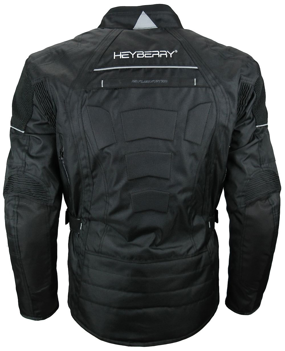 herren touren motorradjacke textil heyberry schwarz gr m. Black Bedroom Furniture Sets. Home Design Ideas